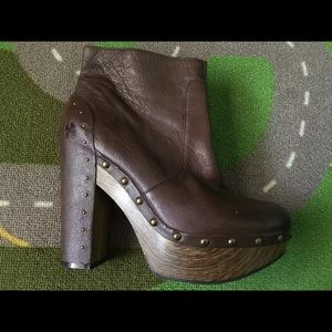 Lucky Brand platform boots with studs